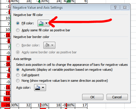 After you apply these changes on the Conditional Formatting Rules Manager window, the column should update.