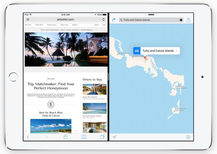 The iPad's new Split View feature. (Apple.com)