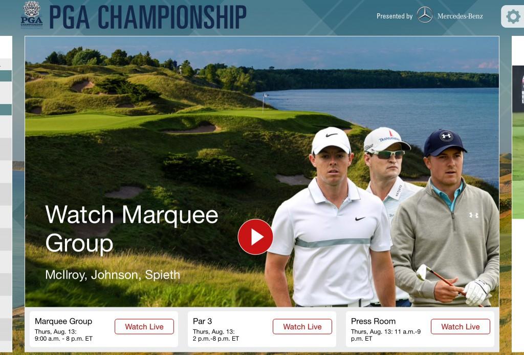 The PGA Championship app for iOS.